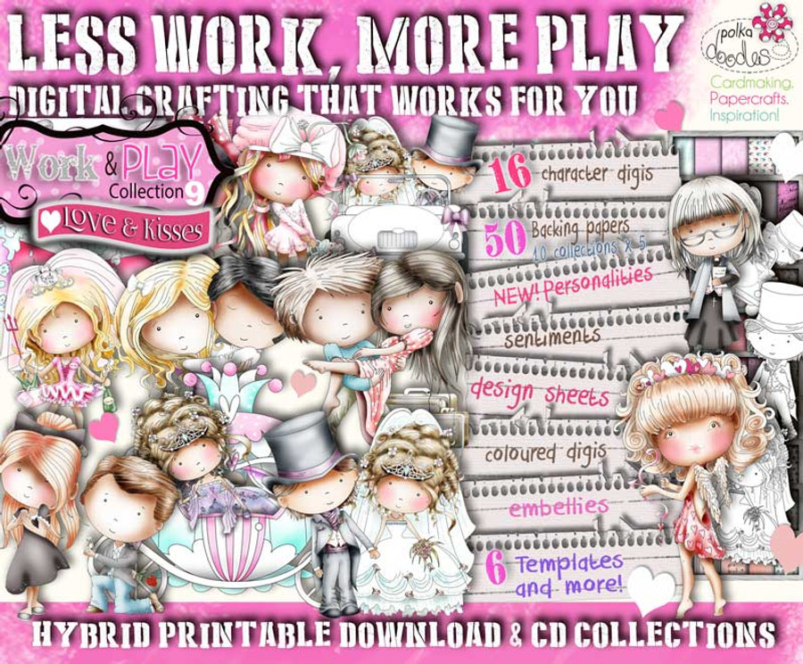 digital download work play 9 digital stamp collection amazing