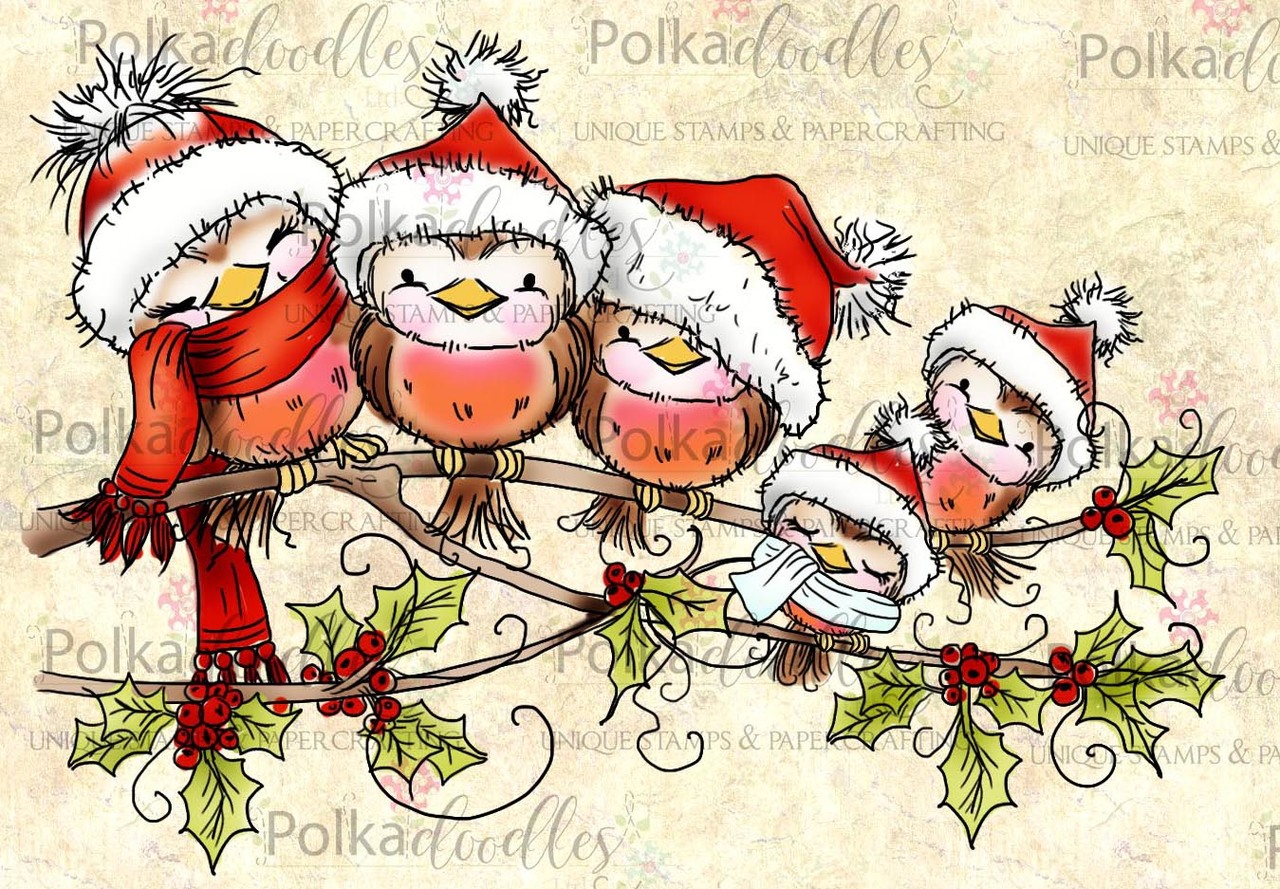 christmas robin cuddles clear stamp set - Christmas Stamp
