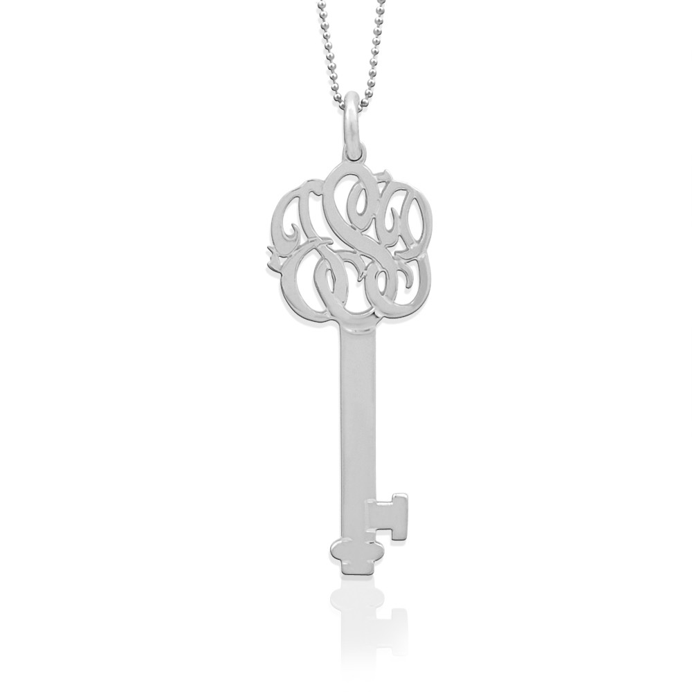 Freeform Monogram Key Pendant