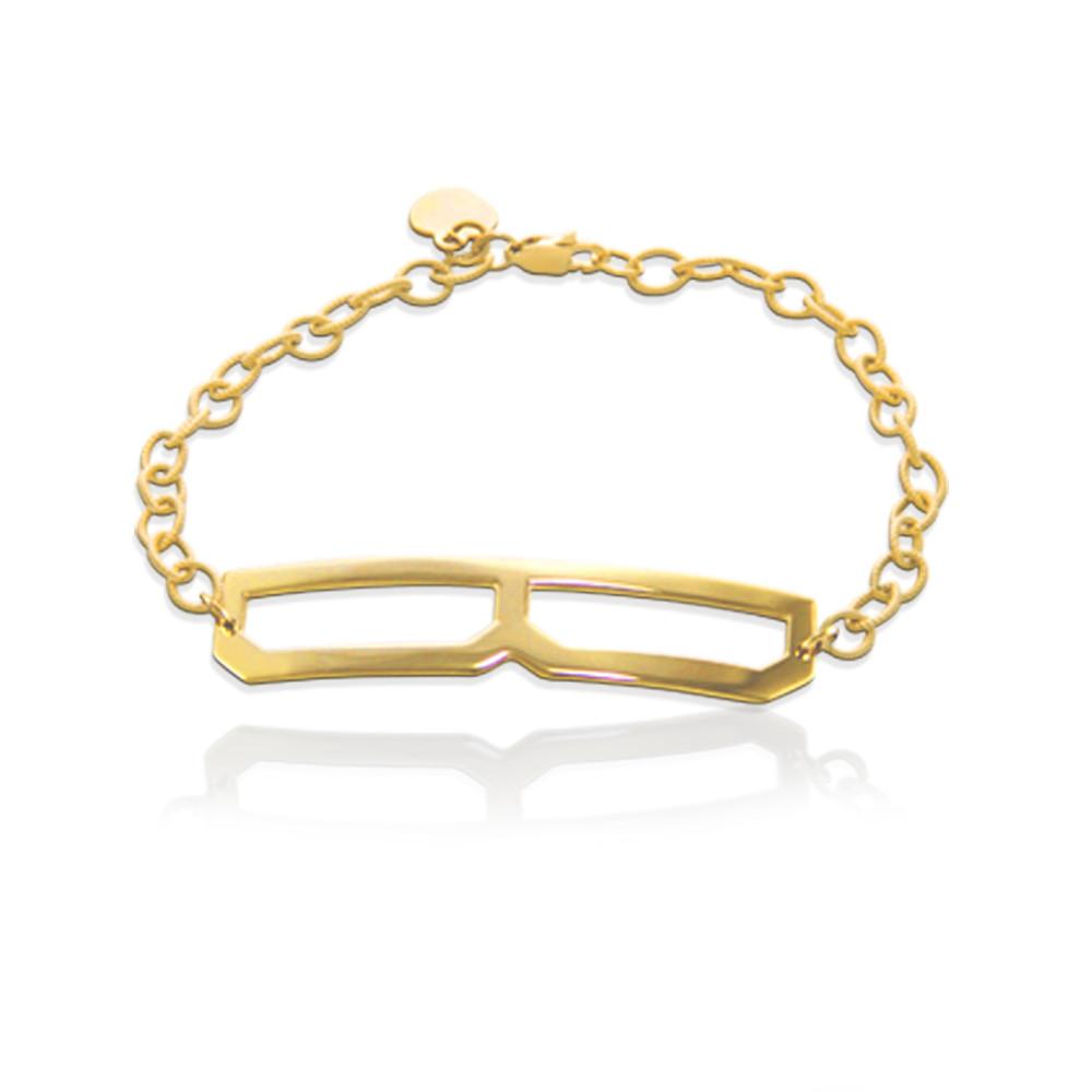JBD298 Long & Lean Block Initial Bracelet