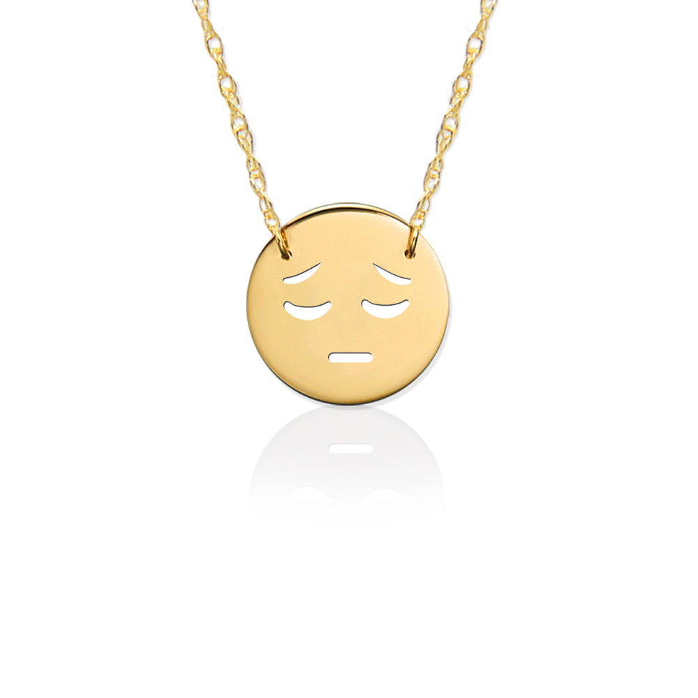 JBD363 Sad Emoji in Sterling Silver