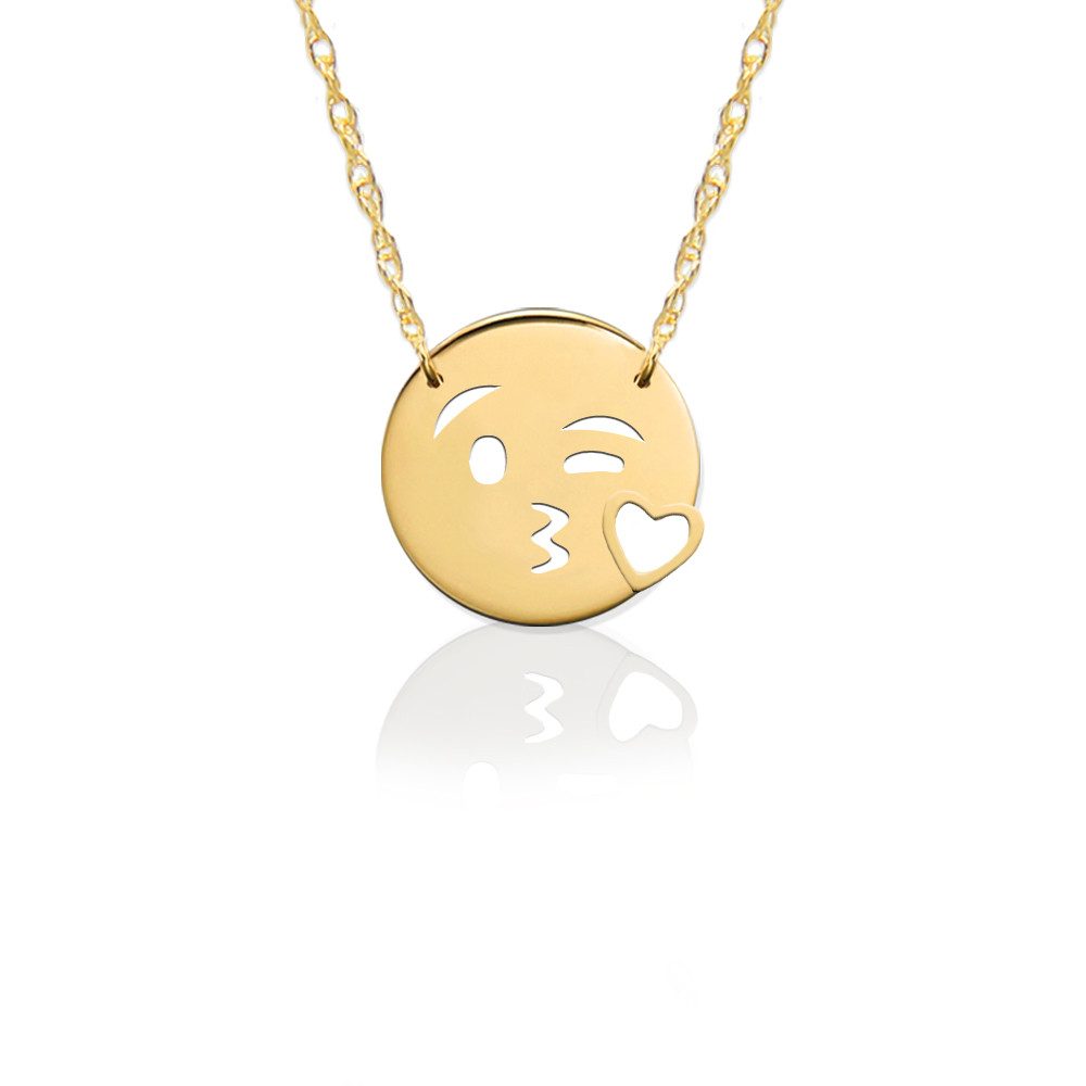 JBD376 Kiss Love Emoji in Sterling Silver