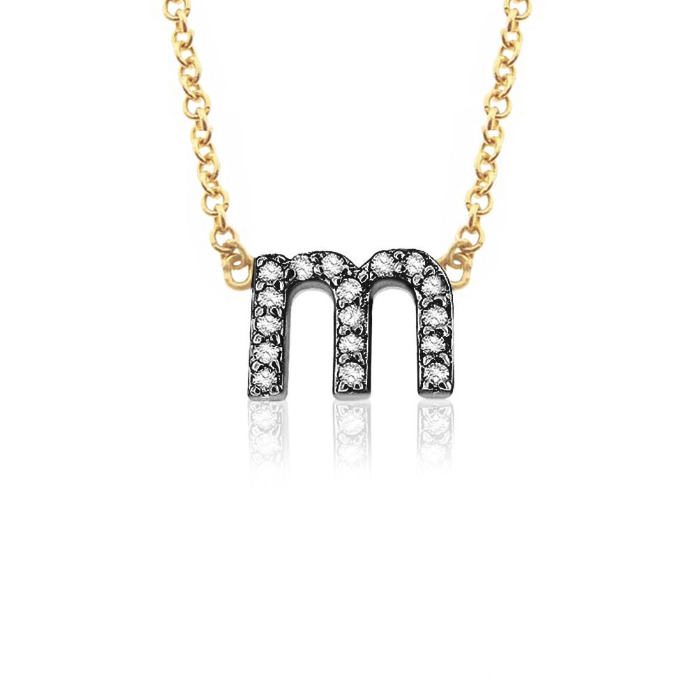 Petite 14K Gold & Diamond Lower Case Initial