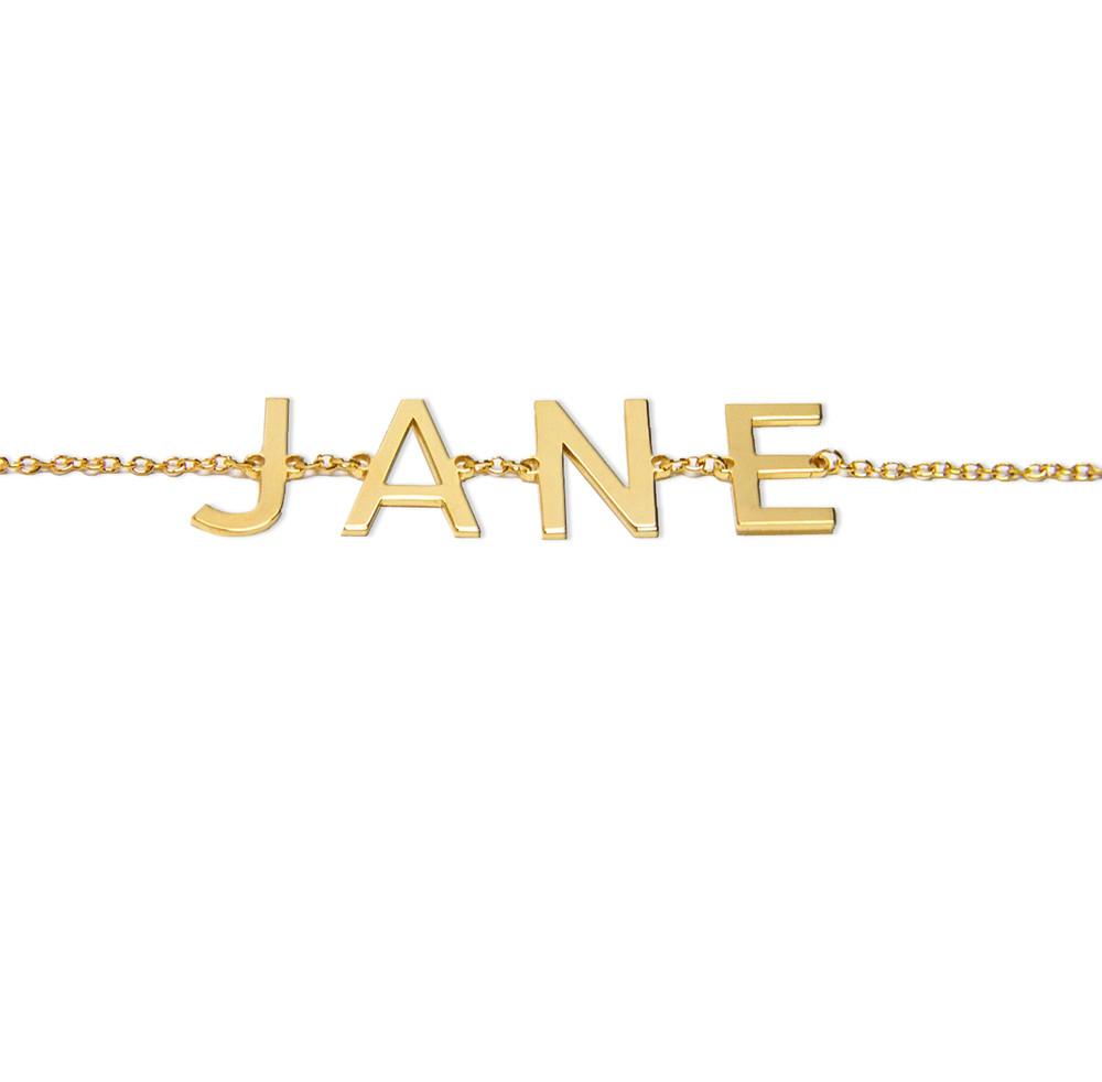 Single Initial Name Bracelet