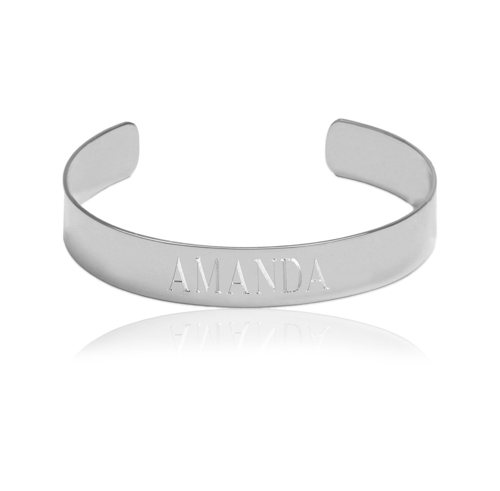 Engraved Name Cuff Bracelet