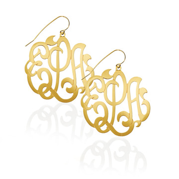 Large Monogram Earrings