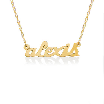 Gold Petite Lowercase Nameplate Necklace