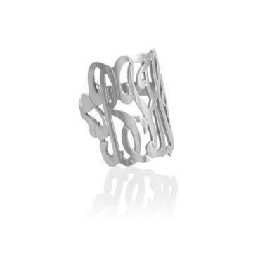 Script Monogram Ring
