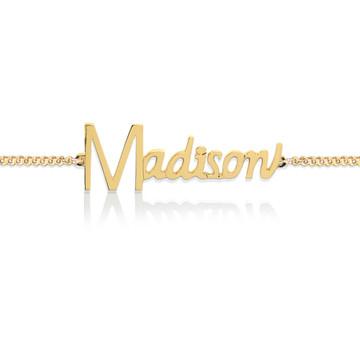 JBD349 Neoclassic Name Bracelet