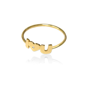 I Love You Wire Band Ring