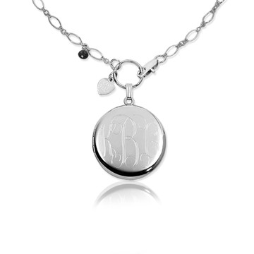 .925 Sterling Silver with Script Lettering