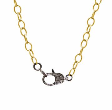 Pavé Diamond Lock & Cable Link Chain
