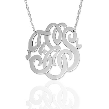 Freeform Script Monogram Necklace