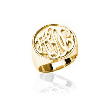 Round Carved Boyfriend Ring