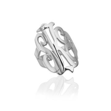Freeform Monogram Ring