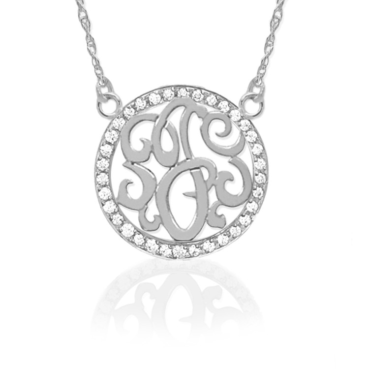 Sterling Silver & Diamond Initial