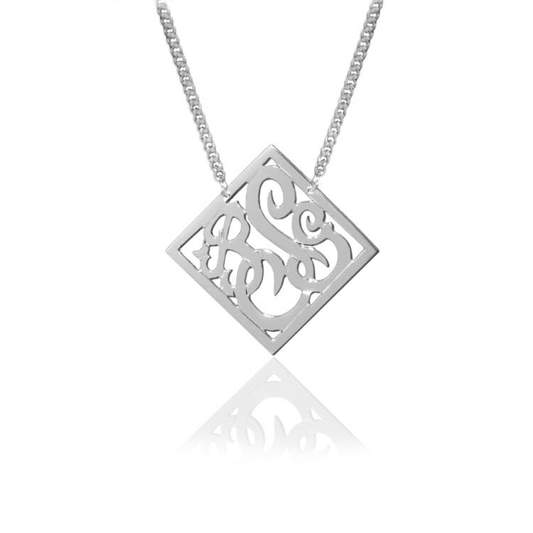JBD316 Diamond Shaped Script Monogram