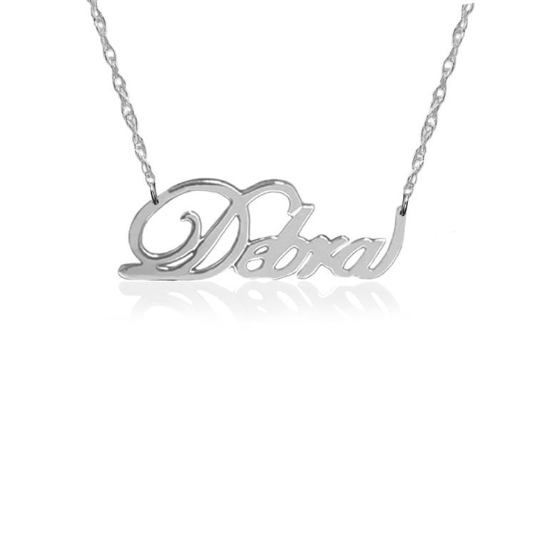 JBD345 Script Namplate Necklace