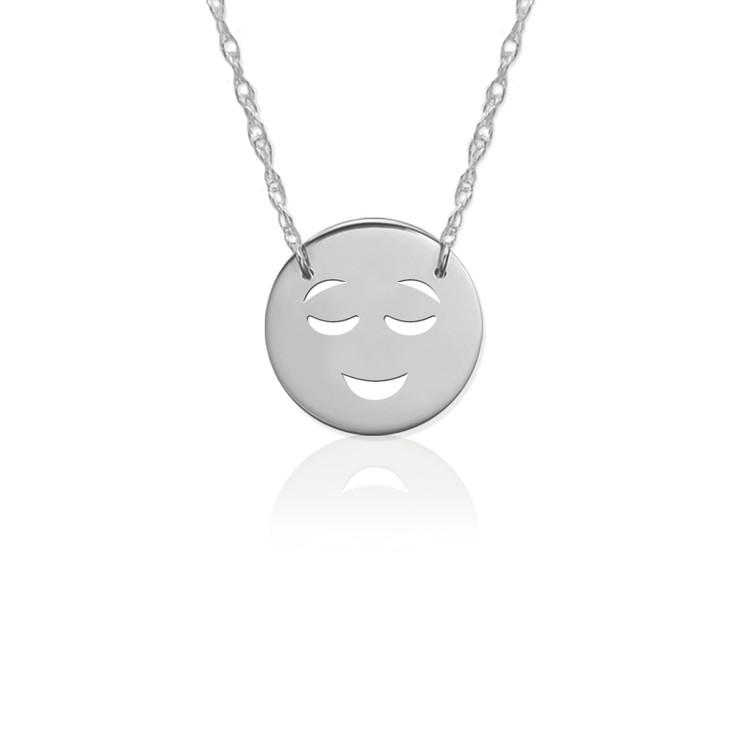 JBD362 Happy Emoji in Sterling Silver