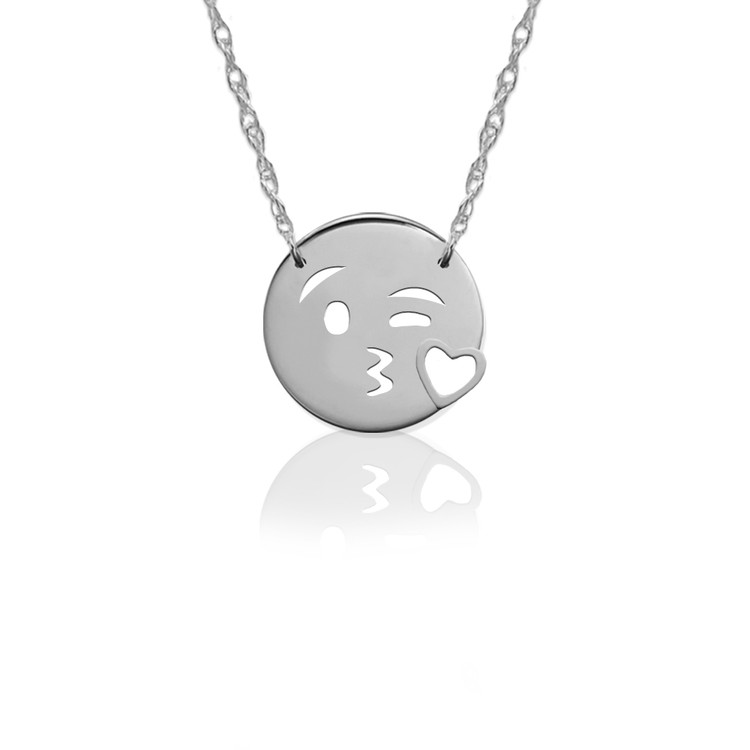 JBD376 Kiss Love Emoji in Sterling Silver