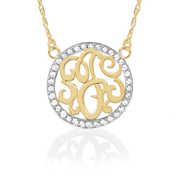 Gold & Diamond Initial
