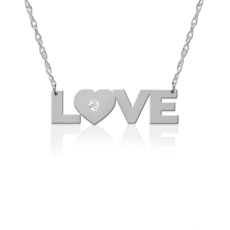 LOVE in .925 Sterling Silver