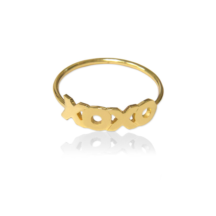 XOXO Wire Band Ring