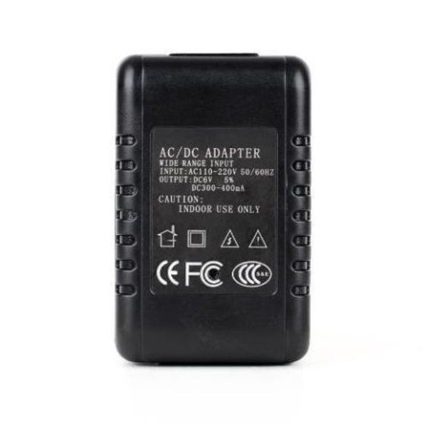 Wifi Capable Wall Charger Hidden Camera Back View