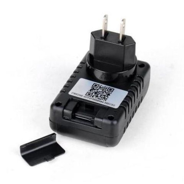Wifi Capable Wall Charger Hidden Camera Showing Battery