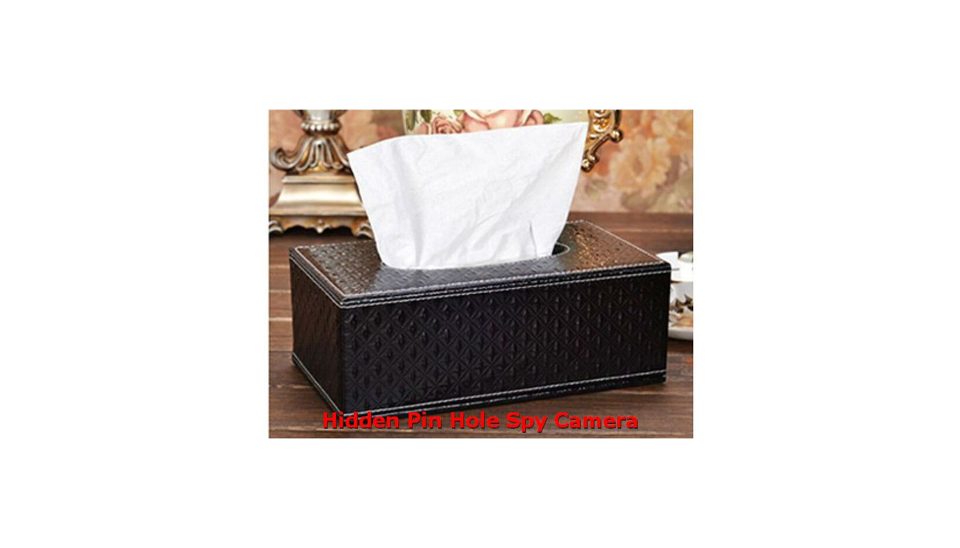Tissue Box Hidden Spy Camera