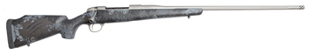 "Fierce Edge 28 Nosler 26"" Titanium Finish Carbon Grey Grunge Stock w/Titanium Muzzle Brake"