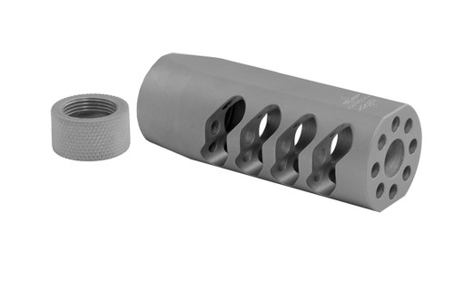 Seekins Precision AR ATC Muzzle Brake 1/2X28 Threads - Bead Blasted Stainless Steel