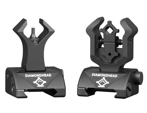 Diamondhead Front & Rear Integrated Sighting System (ISS) Flip-Up Sight Set