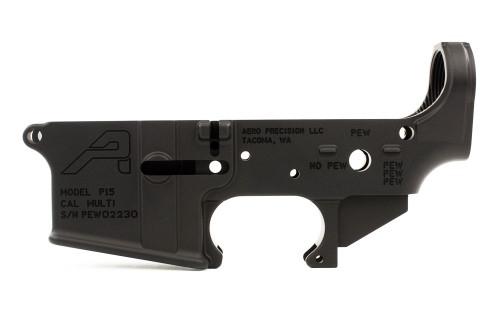 Aero Precision AR15 Stripped Lower Receiver Special Edition: PEW