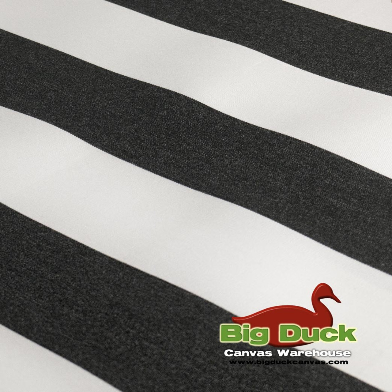 Outdoor Fabric For Awnings/Marine Use Black/White Striped SeaDuck 10YR  Warranty