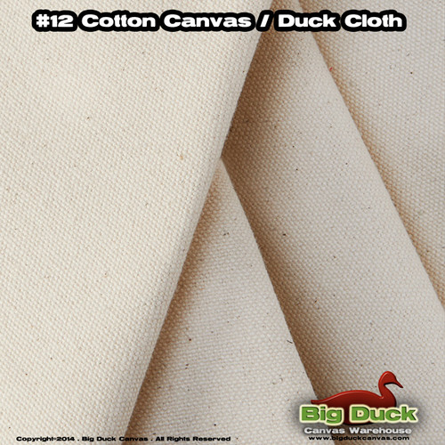 "#12/36"" (11.5oz) Cotton Canvas Fabric / Duck Cloth"