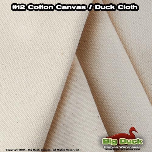 "#12/36"" (11.5oz) Cotton Canvas Fabric / Duck Cloth"