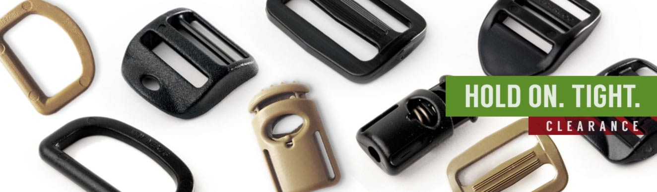 Buckles, Cordloc, D-Ring, Triglide: On sale!
