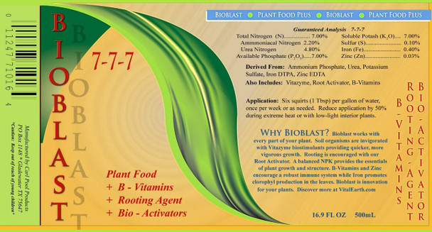 Fertilizer and Nutrient Package - Excalibur VI, Bioblast, Root Activator, Vitazyme