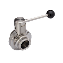 Tri-Clamp Butterfly Valve - Pull Handle