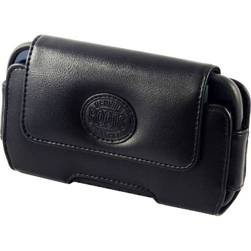 Roots Horizontal Leather Pouch | Front