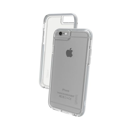 iPhone 6 Plus/6S Plus Gear4 D3O Space Grey IceBox case | Front and Back - Clear