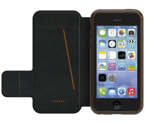 iPhone 5/5S/SE Gear4 D3O Black BookCase | Open Front