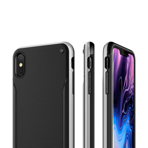 VRS Design High Pro Shield iPhone Xs Max | Steel Silver