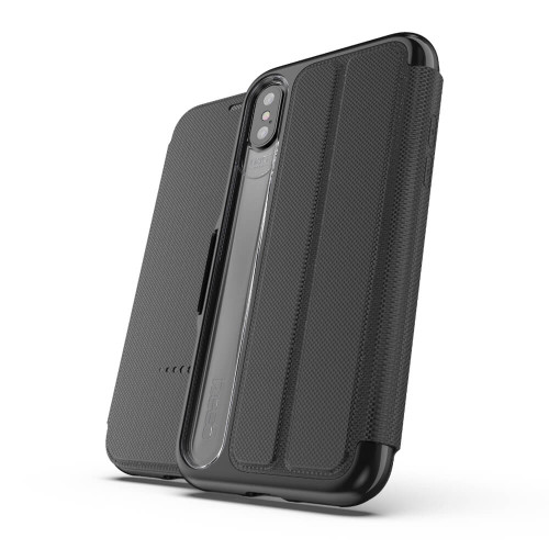 Gear4 D3O Black Oxford Case iPhone Xs Max | Front and Back