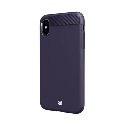 Caseco iPhone XS Max Skin Shield Case   Purple   Back