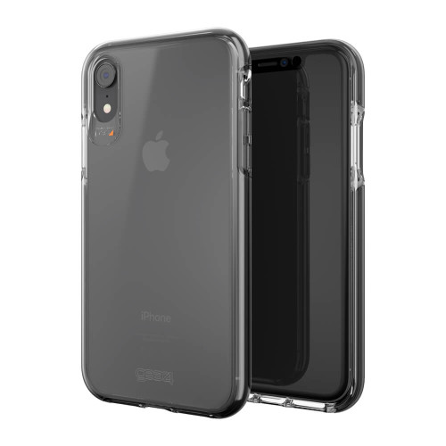 iPhone XR Gear4 D3O Black Piccadilly Case | Front and Back