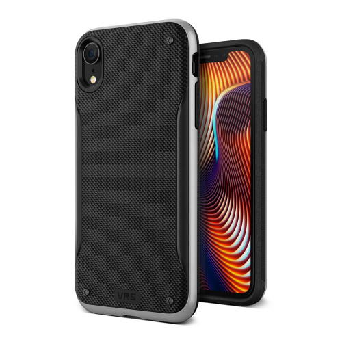 VRS Design High Pro Shield iPhone XR | Silver | Front and Back