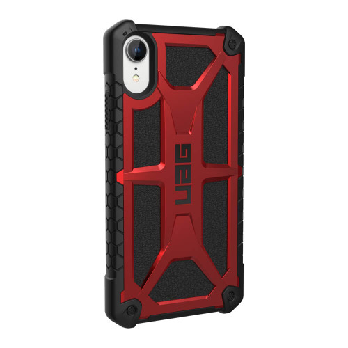 iPhone Xs Max UAG Monarch Red and Black Case | Back