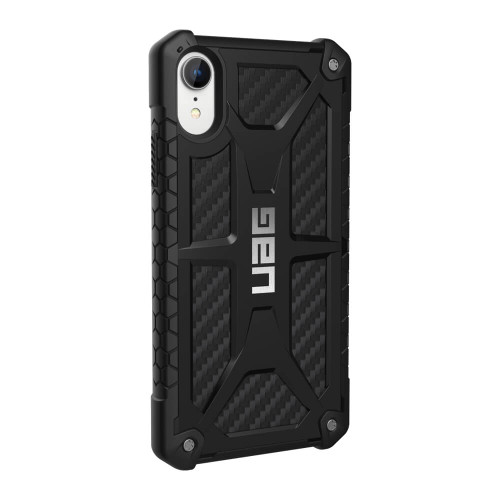 iPhone XR UAG Monarch Carbon Fiber Case | Back